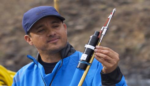 Dr Mauricio Hoyos and his scientific team